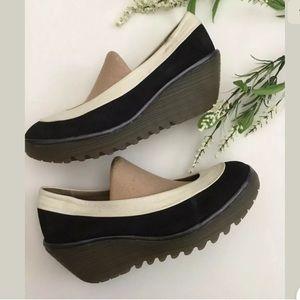 Fly London Yoko Wedge Court Slip On Shoes, 11